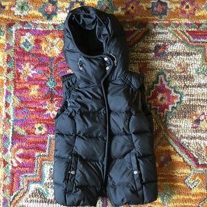 Eddie Bauer Goose Down Winter Vest (with hood!)